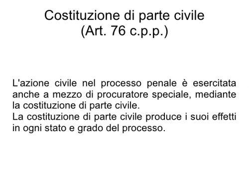 Costituzione di parte civile