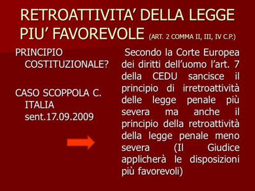 Il principio di retroattività della lex mitior